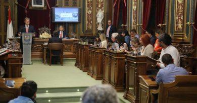 Trabajadoras de ayuda a domicilio invaden el Pleno de Bilbao,