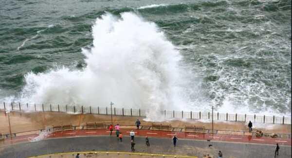 La boya de San Sebastián registra una altura de ola significante de 6,5 metros,
