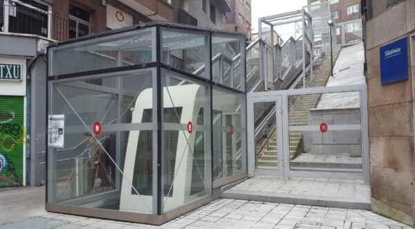 Casi 25 millones de usuarios en los ascensores de Bilbao,