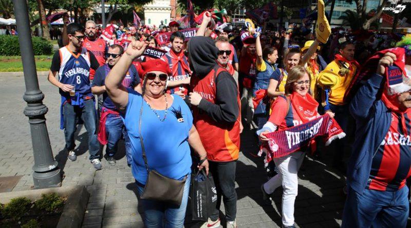La afición baskonista asalta Madrid,