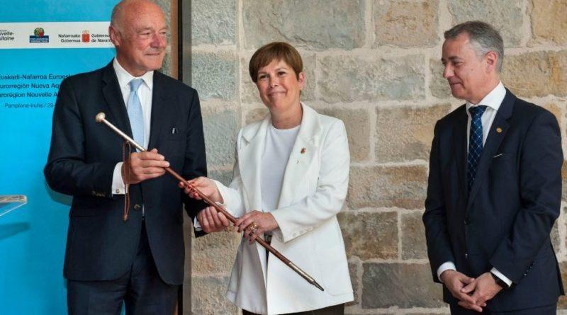 Este viernes se celebra en Iruña la asamblea anual de la Eurorregión Nueva Aquitania – Euskadi – Navarra,