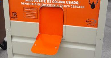 Los nuevos contenedores para reciclar aceite de cocina ya son una realidad en Vitoria,