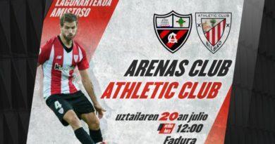 El Athletic disputará su primer amistoso el 20 de julio contra el Arenas,