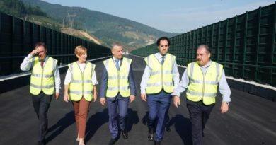 Finalizan la construcción de la plataforma de la Y vasca en Gipuzkoa,