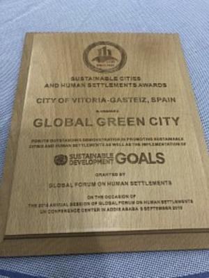 Vitoria-Gasteiz obtiene el premio Global Green City Award,