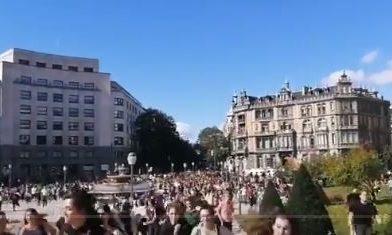 Más de una decena de detenidos tras ocupar las vías del tren en Gasteiz