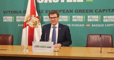 Presentación de la Agenda Vitoriana 2023 sobre proyectos de movilidad, economía y empleo,