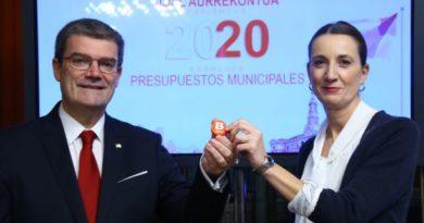 Bilbao contará en 2020 con un presupuesto de casi 600 millones.,
