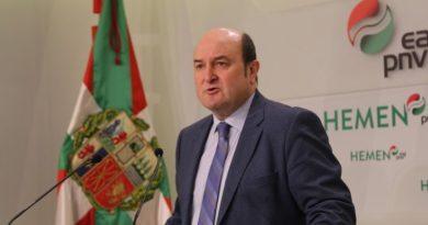"""Ortuzar dice que existe """"un acuerdo bastante amplio"""" entre los gobiernos central y vasco sobre la desescalada en Euskadi,"""