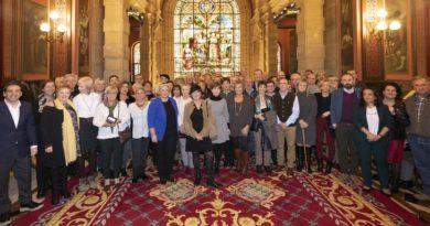 Realizan un homenaje a las y los trabajadores de la Diputación Foral de Gipuzkoa jubilados este año,