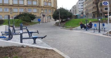 Abierto el nuevo parque deportivo para personas mayores en Sagües (Donostia),