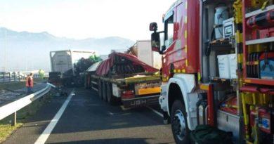 Heridas varias personas en una colisión múltiple ocurrida en la A-636 en Zumárraga (Gipuzkoa)