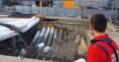 Cinco trabajadores heridos en un edificio en construcción en Navarra,
