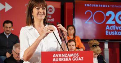 """Idoia Mendia: """"La única alternativa de progreso y diálogo para Euskadi es el socialismo"""","""