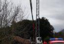 Fatal accidente en Lizarra: se desploma la cesta de un camión grúa cayendo desde 10 metros