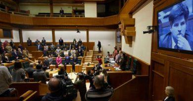 El Gobierno Vasco participa en el homenaje a Gregorio Ordóñez organizado por el Parlamento Vasco,