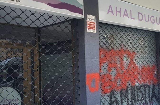 Atacan otra sede de Podemos en Durango, la tercera en los últimos días,