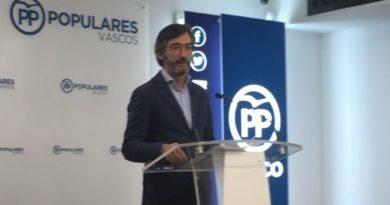 """El PP advierte de que Euskadi puede sufrir un """"rebrote"""" de casos de coronavirus por la """"mala gestión"""" del PNV,"""