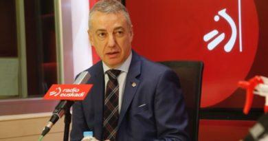 """Urkullu se compromete a """"poner en pie"""" a Euskadi tras la crisis del coronavirus,"""
