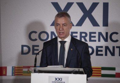 """Urkullu dice que, sin el acuerdo sobre el déficit público, Euskadi estaría en """"una complejísima situación económica"""","""
