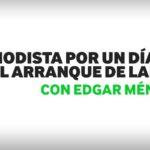 """""""Periodistas por un día"""" con el extremo Édgar Méndez,"""