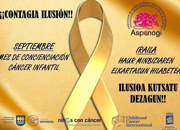 Donostia se suma a la iniciativa de Aspanogi para apoyar a los niños que padecen cáncer,